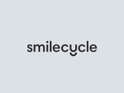 Smilecycle dental brand mark smile word mark identity branding logo smilecycle