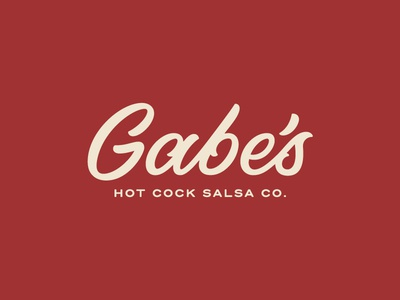 Gabe's Salsa Co. 01 identity branding logo hand lettering lettering company salsa cock hot gabes