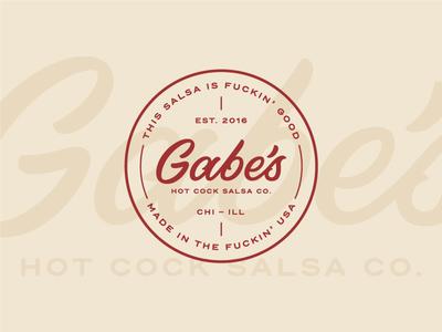 Gabe's Salsa Co. 02 salsa logo lettering identity hot hand lettering gabes company cock branding