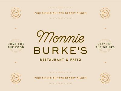 Monnie Burke's 03 branding logo mark classic monogram b m chicago restaurant