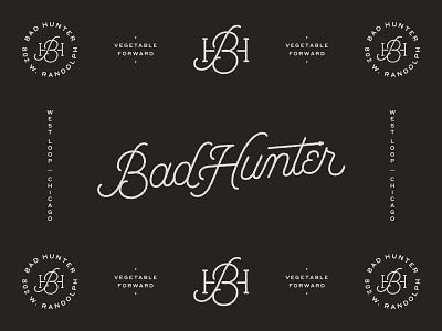 Bad Hunter 02 restraurant west loop hand lettering brand chicago mono monoline mark identity branding lettering script logo