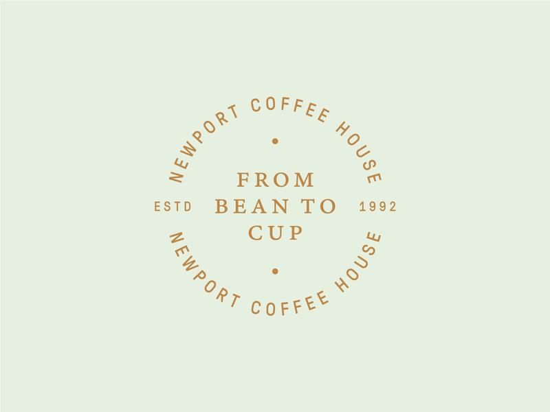 Newport Coffee House 02 identity logo mark seal coffee branding
