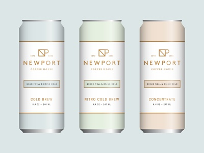 Newport Coffee House 04 copper pastel mockup can packaging identity branding