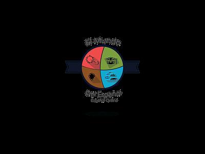 Logo El mundo del Español español adobe illustrator cc logotype logodesign logo digitalart vector illustration design