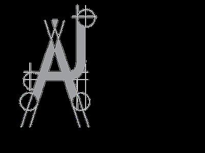 AJ logotype typography art typography adobe illustrator cc digitalart vector illustration design