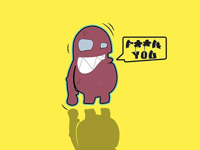 Monstro typography adobe illustrator cc digitalart vector illustration design