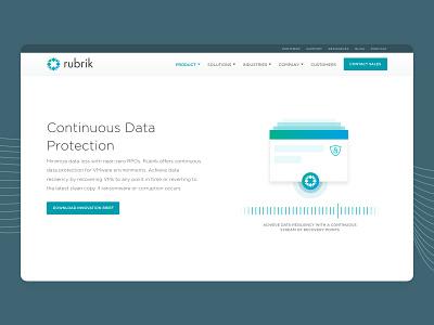 Rubrik • Continuous Data Protection data protection cloud data management data management web development marketing website marketing site marketing illustration corporate website
