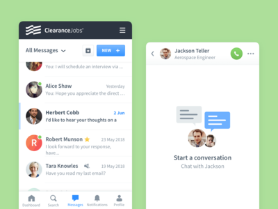 ClearanceJobs • Chat Dedicated Page
