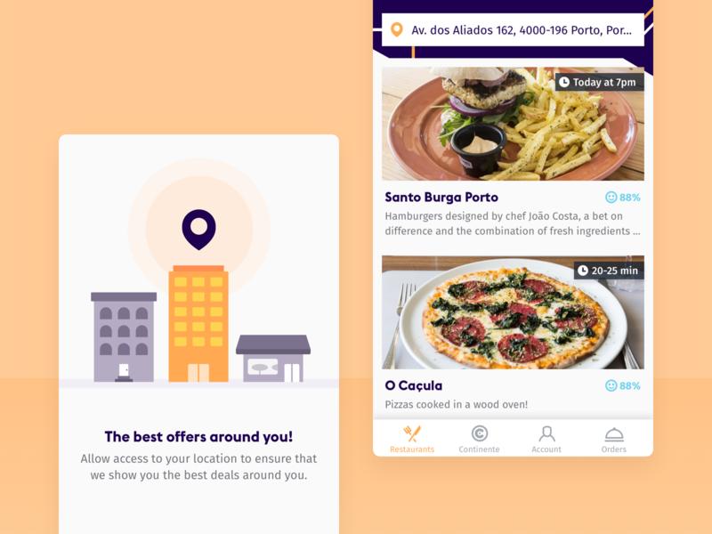 SendEAT • Restaurants illustration clean product mobile ui sendeat mobile app mobile food app food food delivery app food delivery application food delivery burger ios app design ios app app