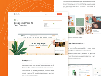 CBDcity • Case Study Page marketing design pixelmatters work webdesign interface uiux ui grasscity cbd website shopify shopping ecommerce case study casestudy