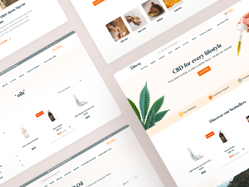 CBDcity • eCommerce Website mockup screens webdesign uiux shopify online shopping ecommerce shop ecommerce design ecommerce business ecommerce cbd