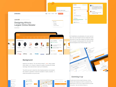 Jumia • Case Study Page case study case studies casestudy android app design ios app design retail ecommerce business ecommerce design ecommerce app ecommerce mobile apps