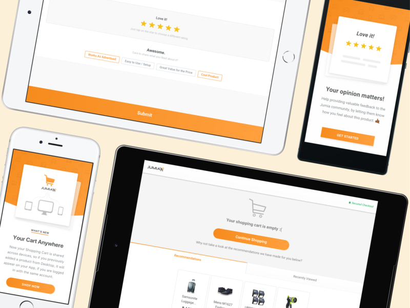 Jumia • Designing Responsively retail mobile apps ios app design ecommerce design ecommerce business ecommerce app ecommerce casestudy case studies android app design