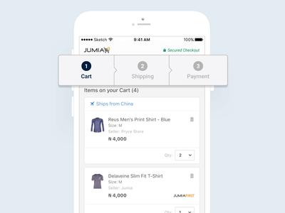 Jumia • Checkout Iteration android app design retail mobile apps ios app design ecommerce design ecommerce business ecommerce app ecommerce casestudy case studies