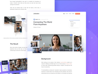 Teleport.Video • Case Study Page branding product strategy ui design ux design remote work video conference video conferencing video ios app design ios app webapp design webapp case studies case study
