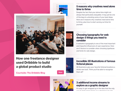 Pixelmatters • Blog post on Courtside dribbble blog posts marketing design product studio freelance design blog blog post
