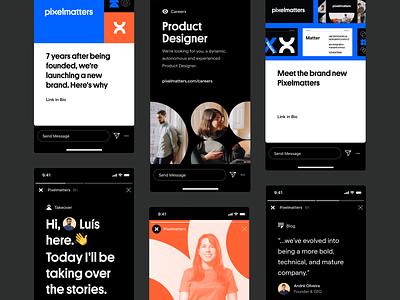 Pixelmatters Rebranding • On Social branding design rebranding rebrand branding concept brand identity brand design brand branding branding and identity