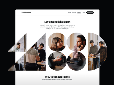 Pixelmatters • Careers company branding brand identity branding brand culture recruitment positions photography minimal work about company benefits list ui ux illustraion flat design about us restyle