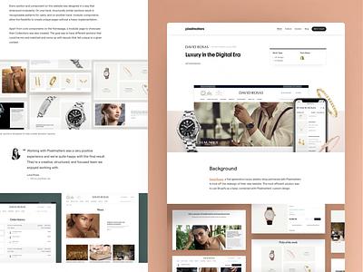 David Rosas • Case Study Page website design design ecommerce shop ecommerce business shopify website shopify marketing corporate website website shopify ecommerce productdesign jewelry ui ux