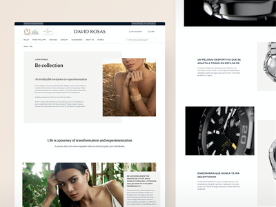 David Rosas • Collections ecommerce uxui uiux ui ux jewerly product page productdesign ecommerce design ecommerce business shopify shopify marketing shopify website ecommerce shop website designer website design