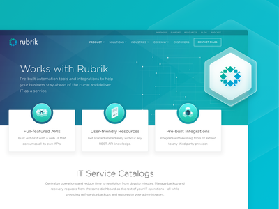 Rubrik • Product Page uidesing design uidesign product performance security seo web development services development company web development uiux uiuxdesign uxdesign marketing marketing site web development agency cloud data management data protection