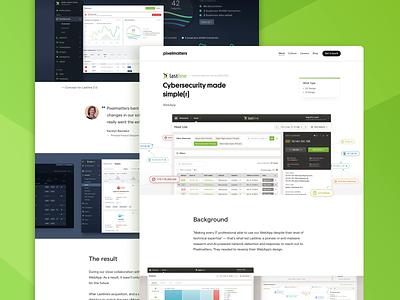 Lastline • Case Study Page product productdesign webdesign user interface creativeagency designagency uxdesign uidesign webapp cybersecurity uxui uiux product design ux ui design