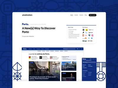 Porto • Case Study Pages media news android design ios design android ios ux ui design quality quality assurance back end development front end development ui design ux design product strategy product