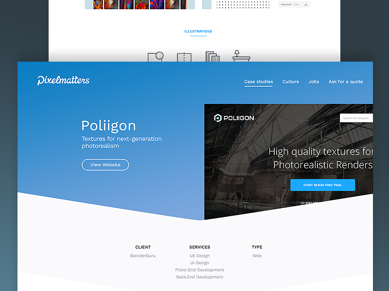 Poliigon dribbble shot