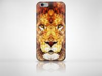 Low Poly Lion Case