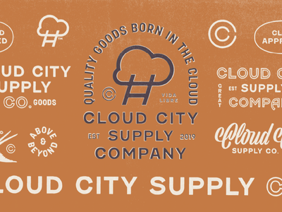 Cloud City Supply Co. tech sass print branding retro poster vintage twilio typography