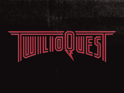 TwilioQuest Redux retro vintage tech video goth death metal iron maiden rpg bands music heavy metal metal typography lettering twilio programming code game video game