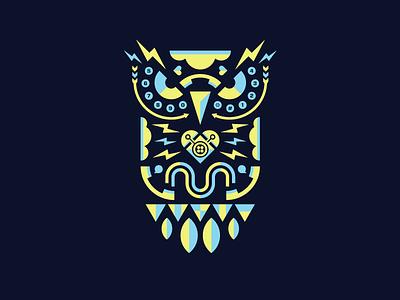 Twilio Owl phones two color geometric owl illustration