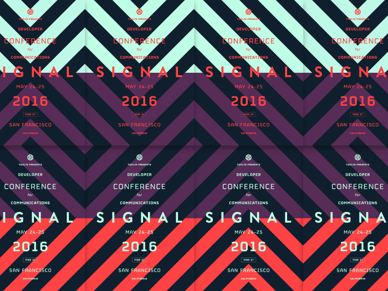 Signal Posters print conference tech tessellation geometric geometry modular bold typography poster