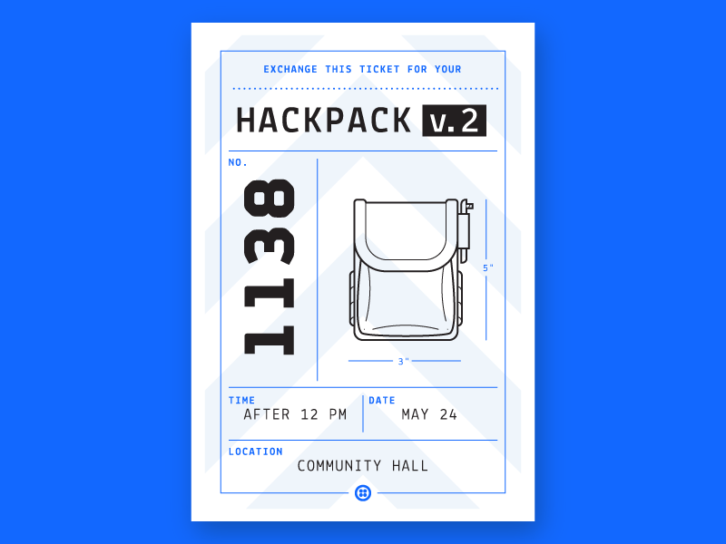 Hackpack Claim Ticket typography print signal conference swag technology tech twilio