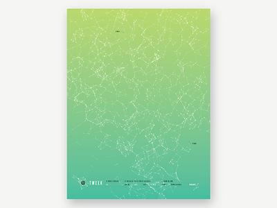 Tweek 5.5 poster green inhouse processing gradient print poster