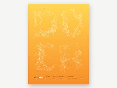 Tweek 5.5 poster yellow tech. inhouse processing gradient print poster