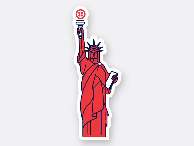 Engage NYC 2 stickers tech twilio nyc new york statue of liberty