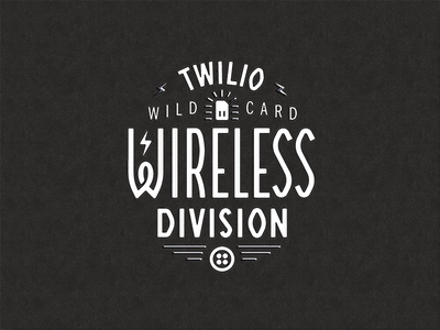 Wireless Division apparel san francisco tech lightning bolt retro vintage lettering typography