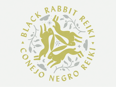 Black Rabbit Reiki Logo