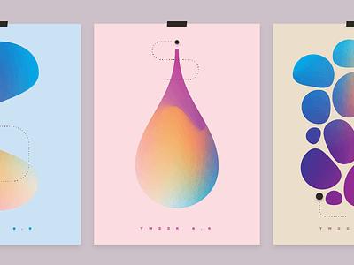 Tweek Posters geometry rainbow colorful trippy alien psychedelic gradient poster