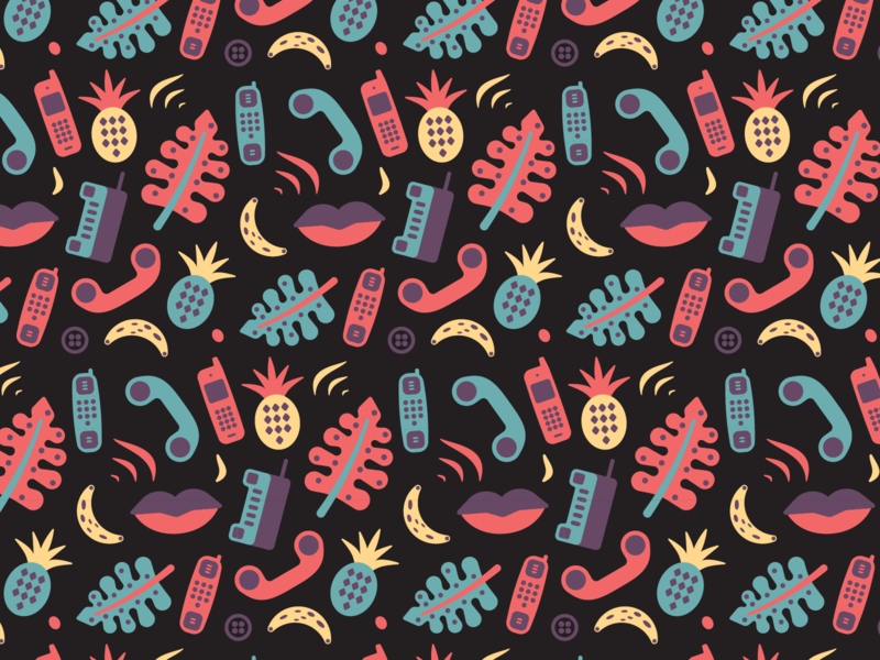 Hawaiian Shirt Pattern retro tropical hawaiian pattern design vintage tech illustration phone hawaii pattern