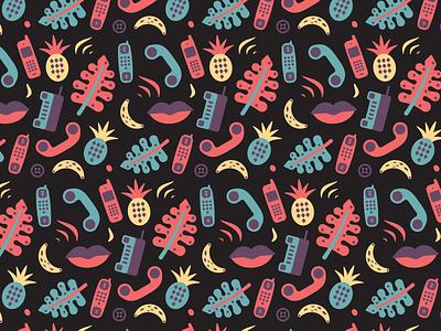 Hawaiian Shirt Pattern retro tropical hawaiian pattern design vintage tech illustration phone hawaii pattern
