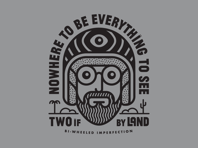 Nowhere to be wanderlust adventure desert motorcycle travel mysticism minimal shirt typography illustration