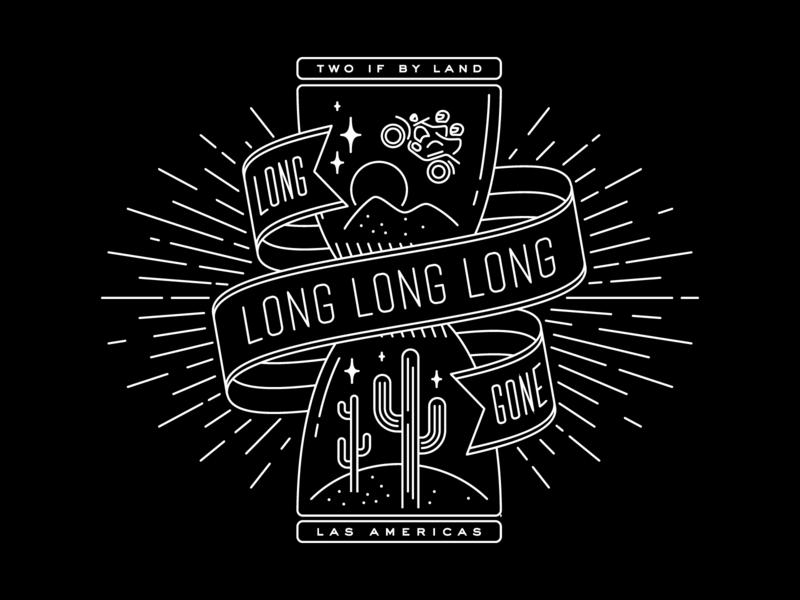 Long gone in Las Americas illustration mystical hourglass cactus bike travel wanderlust screenprint apparel tshirt shirt motorcycle desert adventure graphic
