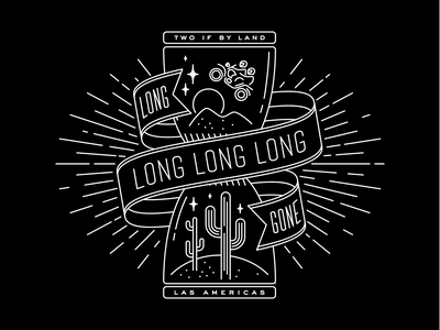Long gone in Las Americas illustration mystical hourglass cactus bike travel wanderlust screenprint apparel tshirt shirt motorcycle desert adventure graphic