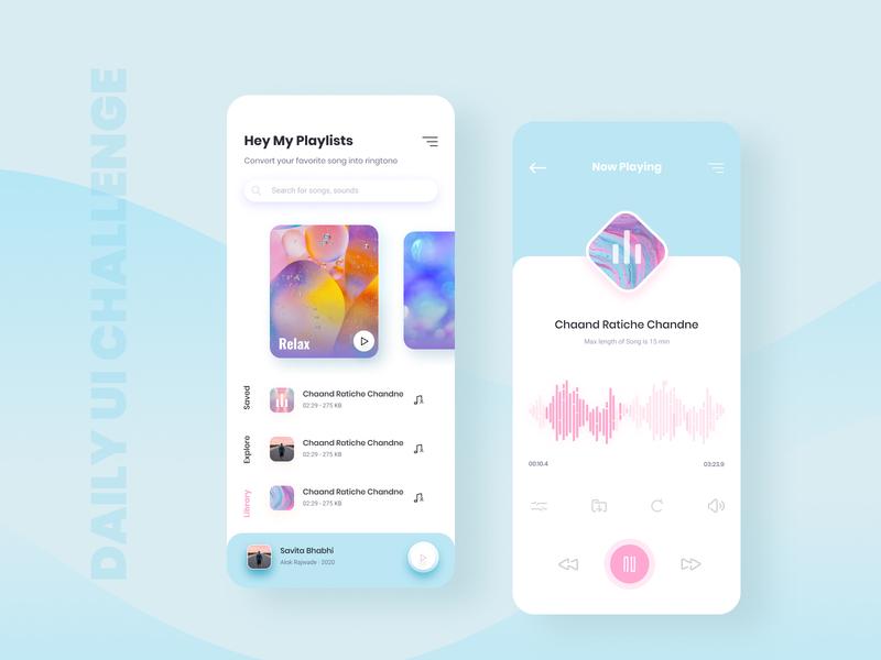 Daily UI Challenge Music Player music app music player figma illustration ui application