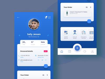 User Profile UI app application uidesign profile ui figma