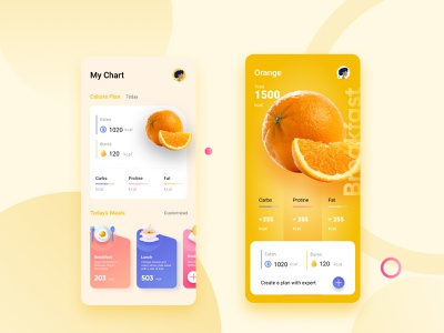 Daily Creative Challenge Nutrition App app design illustration app nutrition ui figma