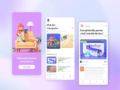 Blog post design #Daily ui xd ui app branding blog