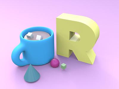 3D Mug #vectary 3d composition color lighting mug 3d art vectary 3d vectary